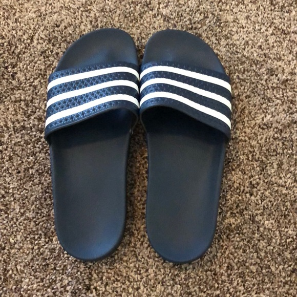 13d56e5d9fb7 adidas Other - Men s Adidas slip on sandals size 11. Navy color